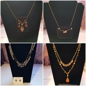 Necklace and hypoallergenic earrings sets